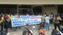 Manifestação dos comerciários