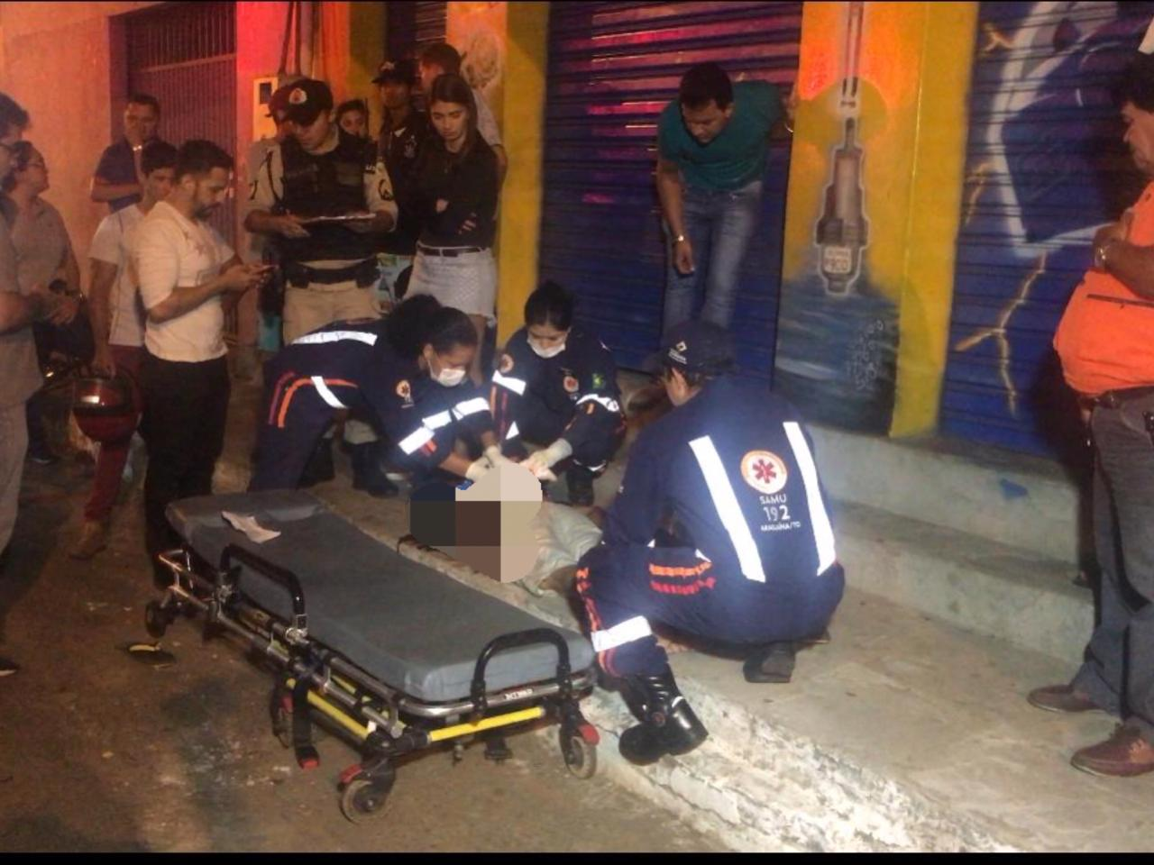 João Filho foi baleado nas costas e precisou ser levado para o hospital.